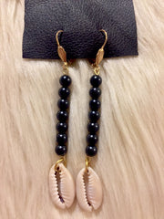 Noire Cowrie Earrings