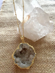 Mermaid Caves Druzy Necklace