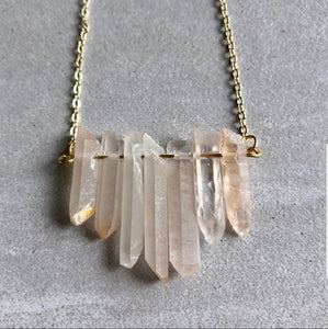 Peach Quartz Necklace