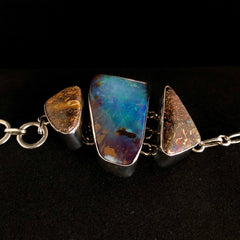 Large Raw Boulder Opal Statement Bracelet