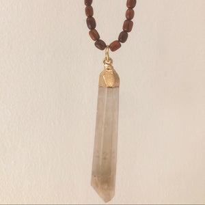 Large Smoky Quartz Point Necklace