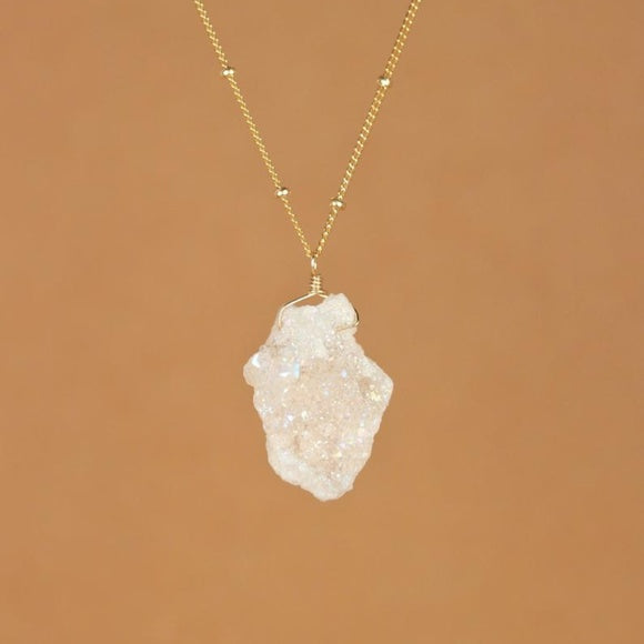 Angel Aura Druzy Cluster Necklace