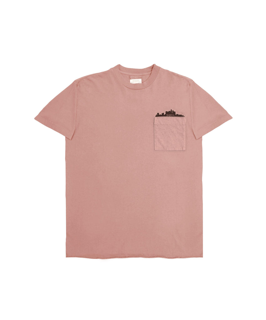 Sunset Boxy Fit Tee - Clay Pink