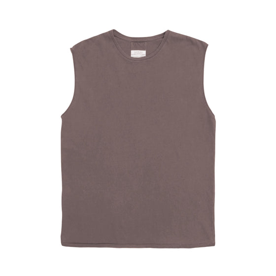 Ivar Boxy Muscle Tee - Ash Brown