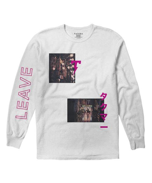 Leave Long Sleeve Tee - White