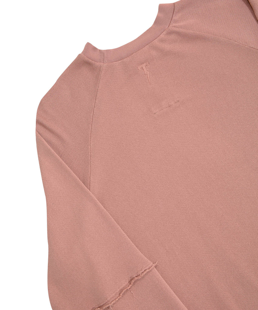Hyde Raglan Sleeve Crew - Clay Pink
