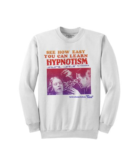 The School of Hypnotism Crew Sweatshirt - White