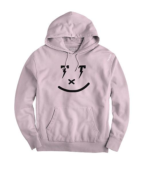 Smiley Hoodie - Muted Pink