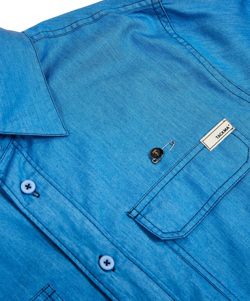 Hemmingway Tailored Chambray Shirt Detail 1