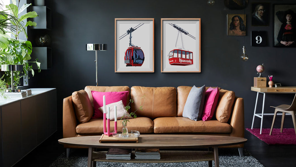 Heavenly and Aspen Gondolas in a Modern Room