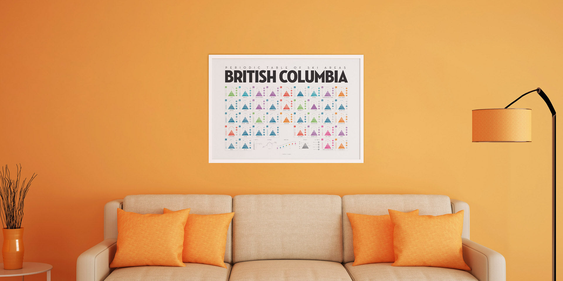 Orange Room British Columbia Print