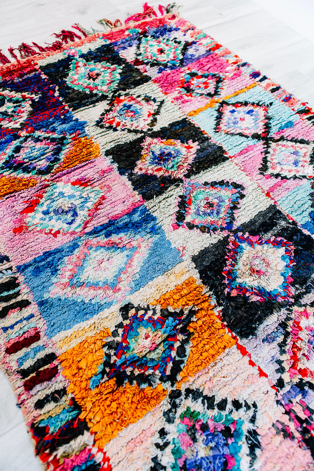 "THAT'S THE WAY LOVE GOES BERBER RUG 5'8"" x 4'6"""