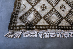 [SOLD] CHECK MATE boucherouite vintage moroccan berber carpet