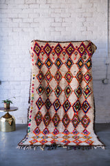 [SOLD] AZILAL'Y POP boucherouite vintage moroccan berber carpet