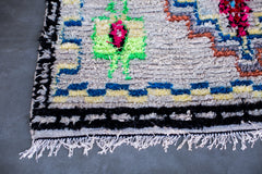 [SOLD] GOLDEN CHILD boucherouite vintage moroccan berber carpet