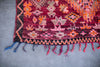 [SOLD] RED SONJA boucherouite vintage moroccan berber carpet