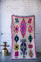 [SOLD] FAMILY JEWELS boucherouite vintage moroccan berber carpet