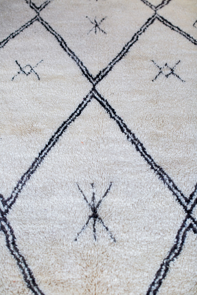 [SOLD] BENI OURAIN AND JOON boucherouite vintage moroccan berber carpet
