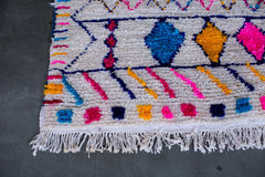 [SOLD] CANDY LAND boucherouite vintage moroccan berber carpet