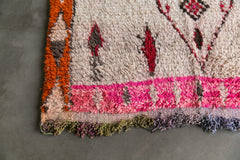 [SOLD] THE STING boucherouite vintage moroccan berber carpet