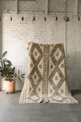[SOLD] KNIGHT RIDER boucherouite vintage moroccan berber carpet