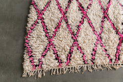 [SOLD] THE PINK DUKE boucherouite vintage moroccan berber carpet