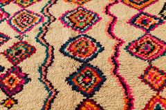 [SOLD] SUNDAY BRUNCH boucherouite vintage moroccan berber carpet