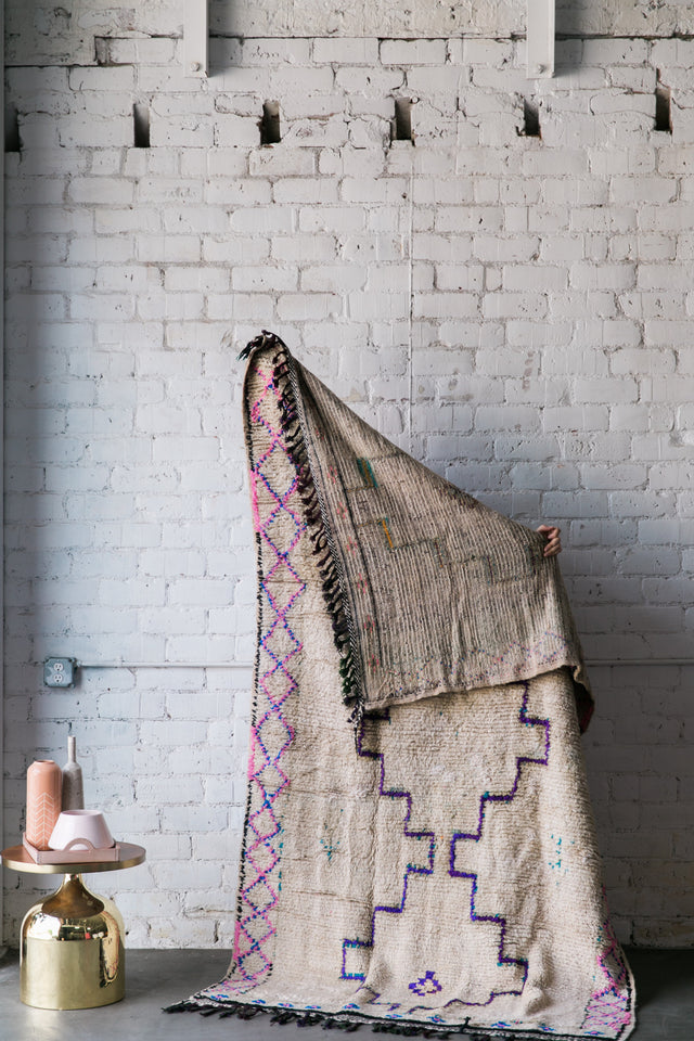 [SOLD] RUN AND WRITE azilal vintage moroccan berber carpet
