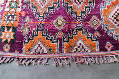 [SOLD] OCHRE AND EGGPLANT boujad vintage moroccan berber carpet