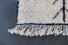 [SOLD] THE PLACE BEYOND THE PINE vintage beni ourain moroccan berber carpet