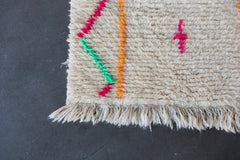 MIDDLE OF THE ROAD vintage azilal moroccan berber carpet