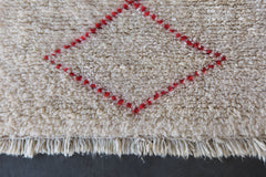 [SOLD] THE THIN RED LINE vintage beni ourain moroccan berber carpet