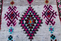 [SOLD] OH OH ITS MAGIC boucherouite vintage moroccan berber carpet