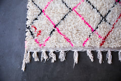 MARILYN'S RED LIPPY vintage azilal moroccan berber rug
