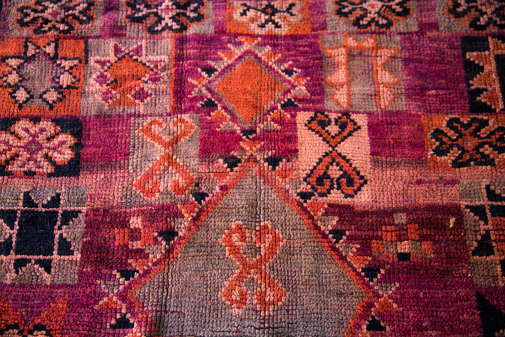 [SOLD] This beautiful PINOT NOIR vintage boujaad moroccan berber rug has gone to its forever home.