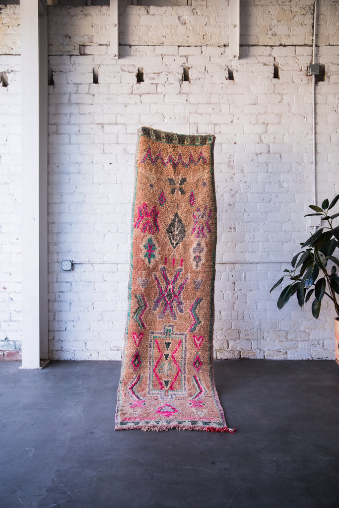 [SOLD] ELECTRIC SHEEP vintage ourika moroccan berber carpet