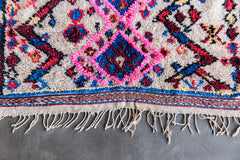 [SOLD] PUT A BIRD ON IT ourika vintage moroccan berber carpet