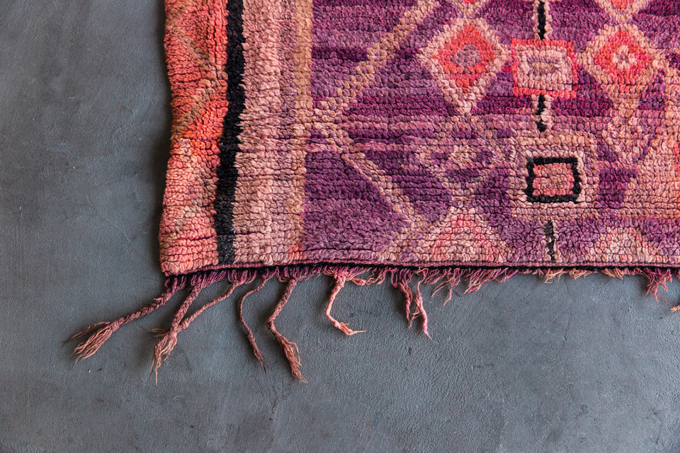 [SOLD] FIFTY SHADES OF PINK boujad vintage moroccan berber carpet