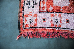 [SOLD] STRAWBERRY BLONDE vintage ourika moroccan berber carpet