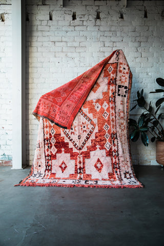STRAWBERRY BLONDE vintage ourika moroccan berber carpet