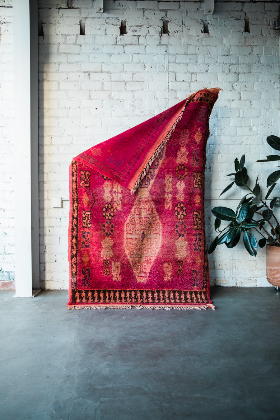 [SOLD] ODE TO FRIDA vintage azilal moroccan berber carpet