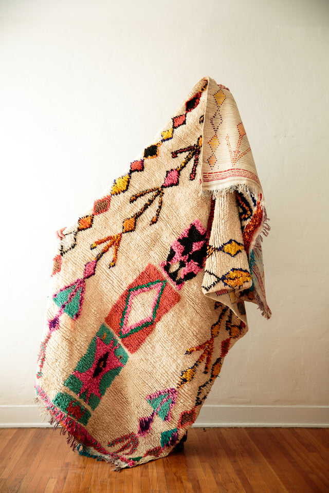 [SOLD] BOWS + ARROWS vintage moroccan rug