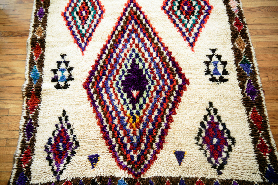 [SOLD] SO ARE THE DAYS OF OUR LIVES boucherouite vintage moroccan berber carpet