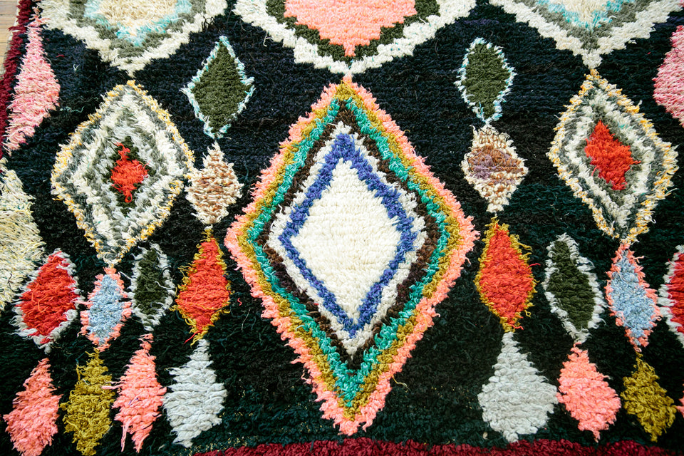 [SOLD] EVER OURS' boucherouite vintage moroccan berber carpet