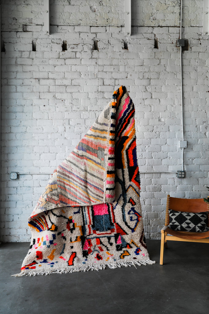 [SOLD] COCO VS. THE VOLCANO vintage aït hdiddou moroccan berber rug
