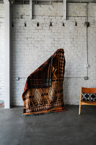 [SOLD] COFFEE IN BROOKLYN vintage taznakht berber moroccan rug