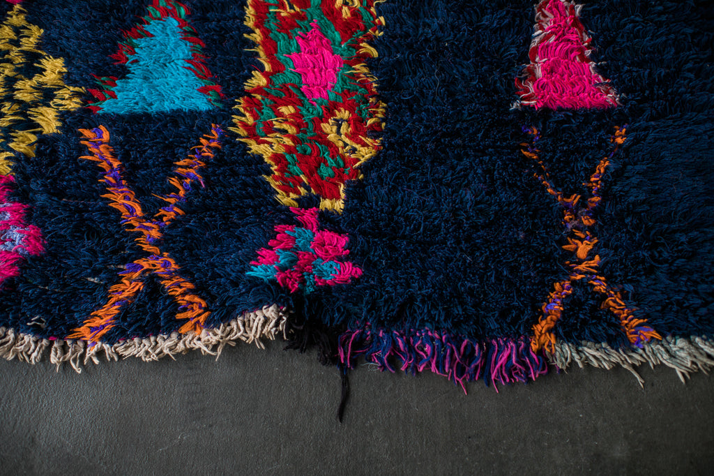 [SOLD] MIDNIGHT EXPRESS vintage ait namat berber moroccan rug
