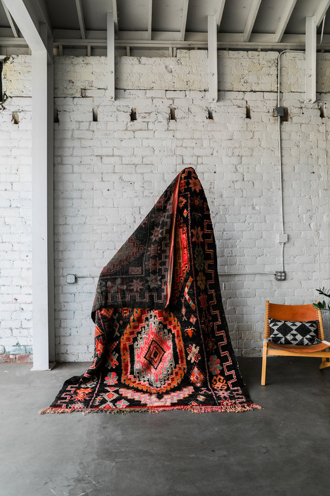 Sold Black Magic Vintage Boujaad Berber Moroccan Rug