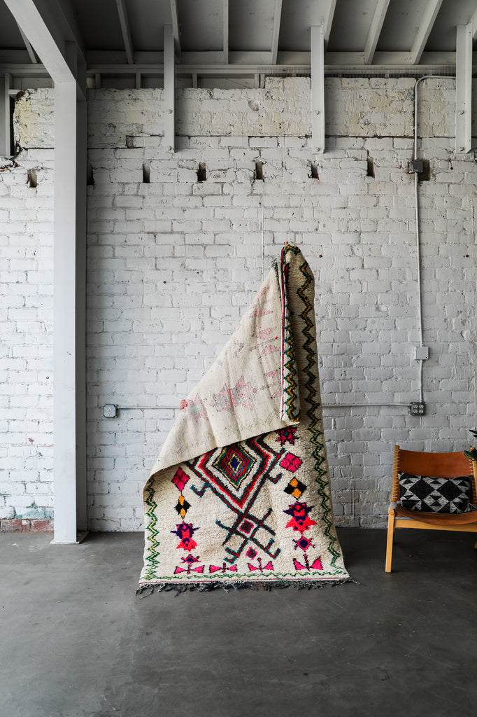 [SOLD] BOWTIE BUTTERFLY vintage ourika berber moroccan rug