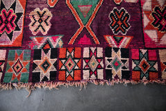 MAROON HIGH 5 vintage azilal moroccan berber carpet